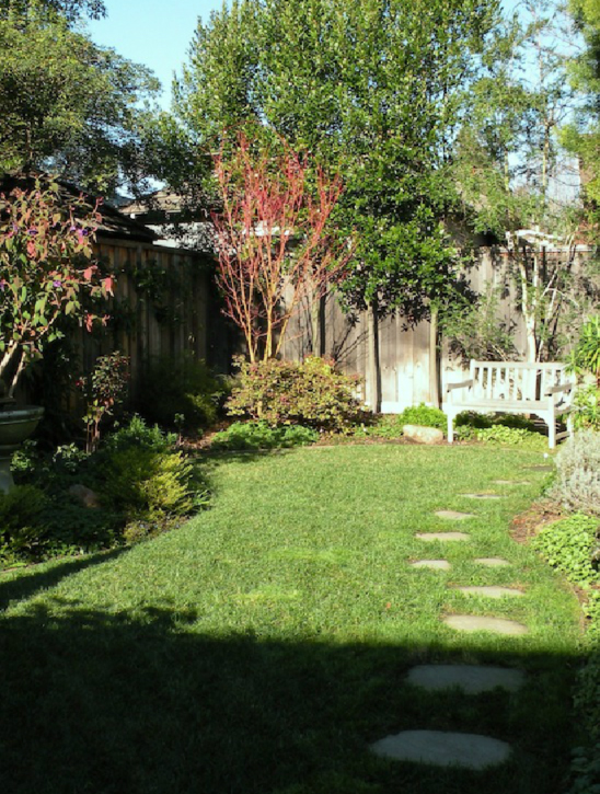 AFTER: A quiet place to relaz and enjoy the view of the hummingbirds that frequent the fountain and flowering shrubs.